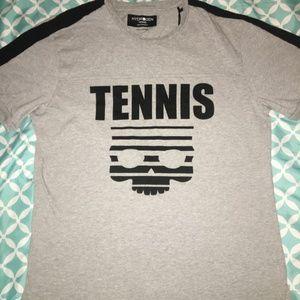 Hydrogen Tennis Men's XXL Gray Skull Tshirt